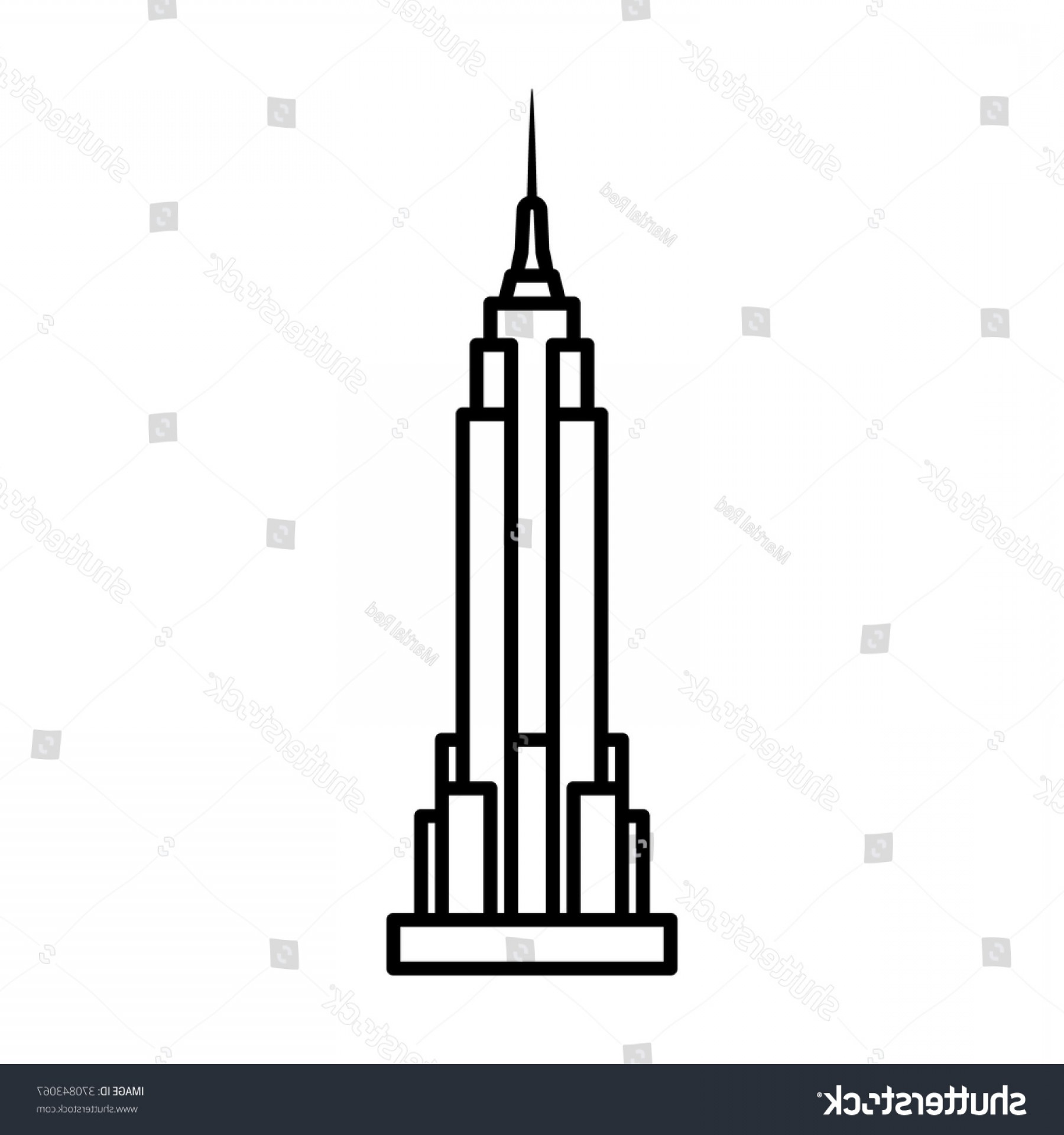 Empire State Vector: Empire State Building New York City