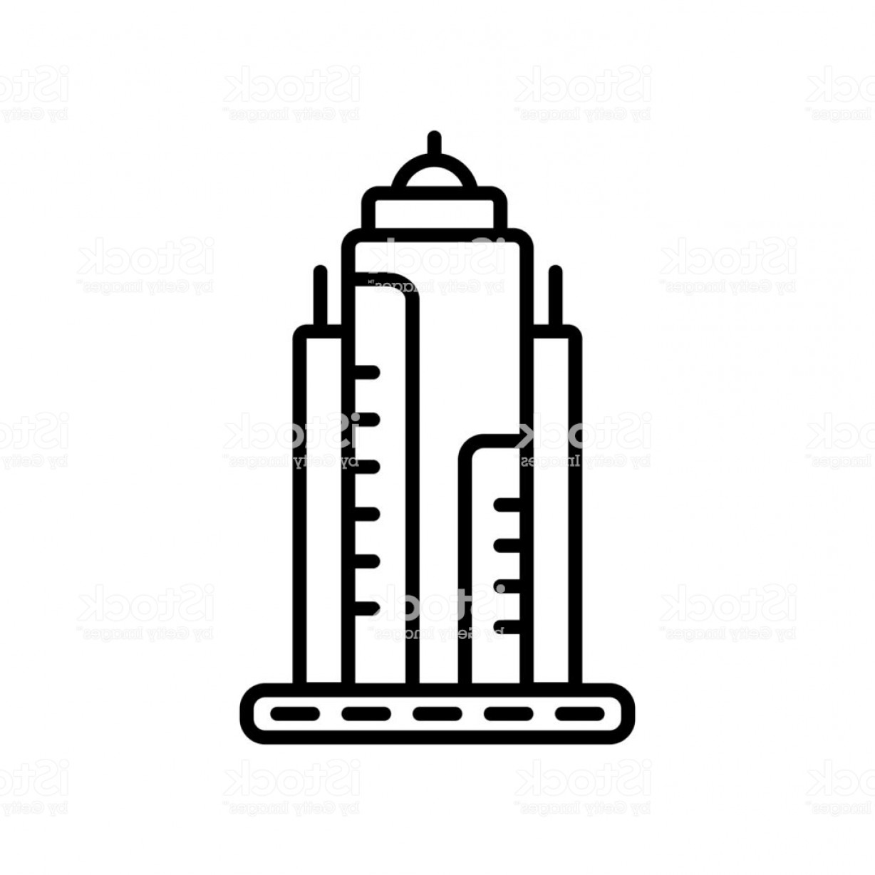 Empire State Vector: Empire State Icon Vector Isolated On White Background Empire State Sign Line Or Gm