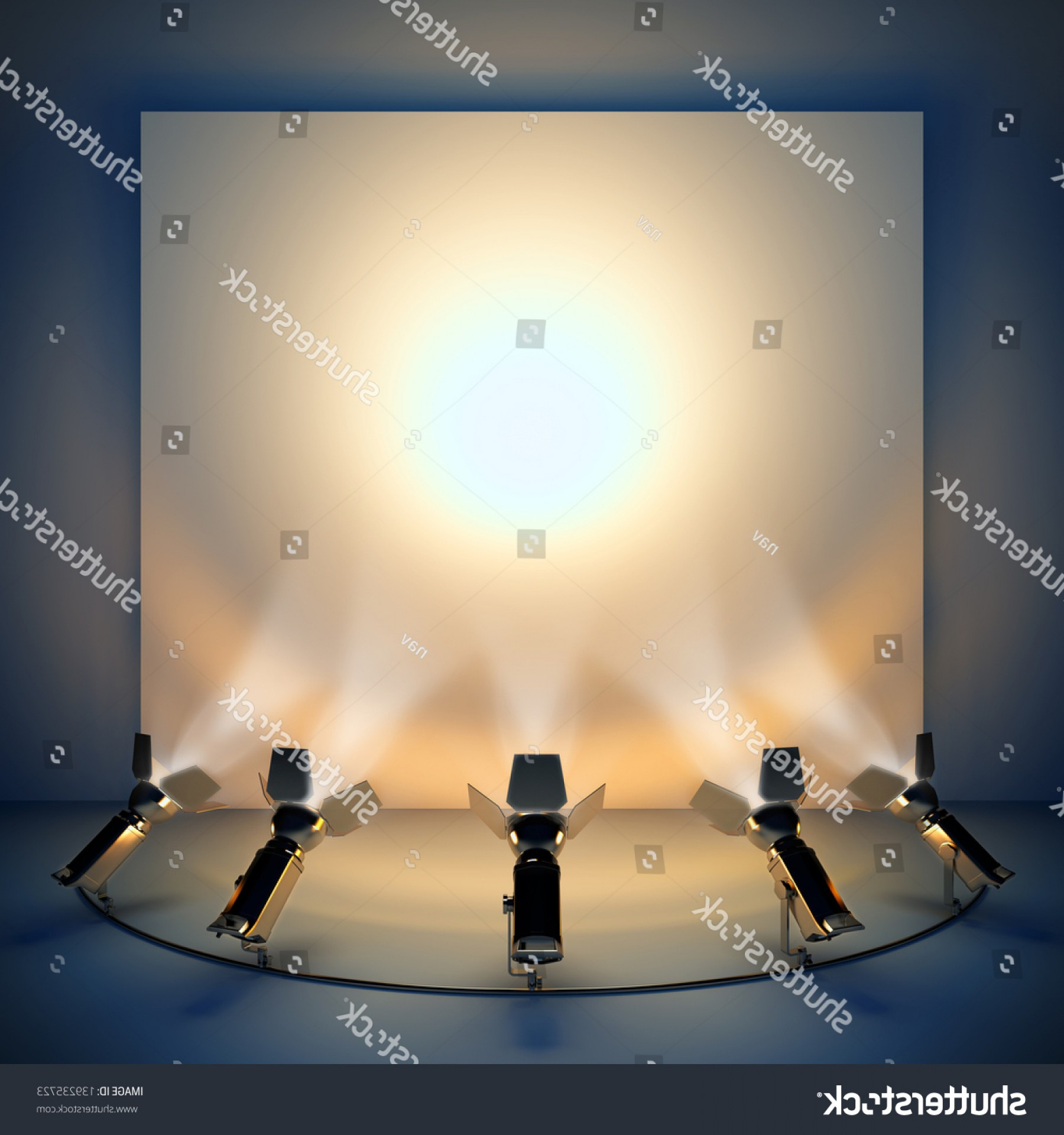 Vector Spotlight 3 Million: Empty Background Stage Spotlight D Illustration