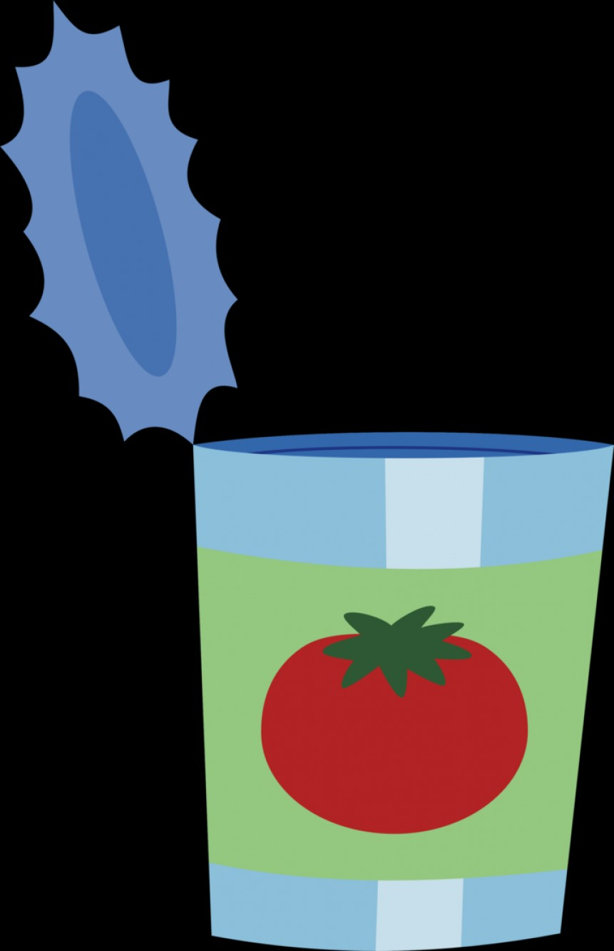 MLP Vector Food And Drink: Empty Can Of Tomato Juice