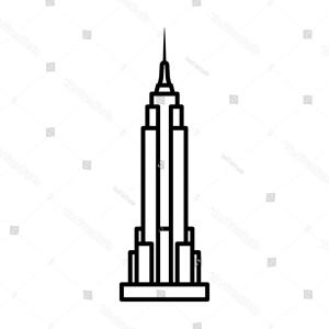 Empire State Vector: American Empire State Building Illustration Gm