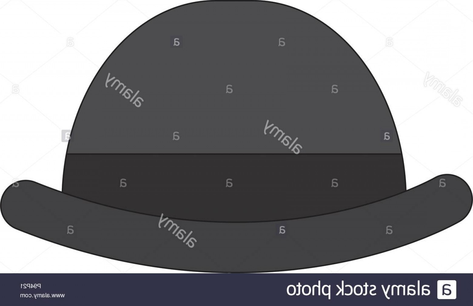 Bowler Hat Vector: English Bowler Hat Elegant Accessory Image