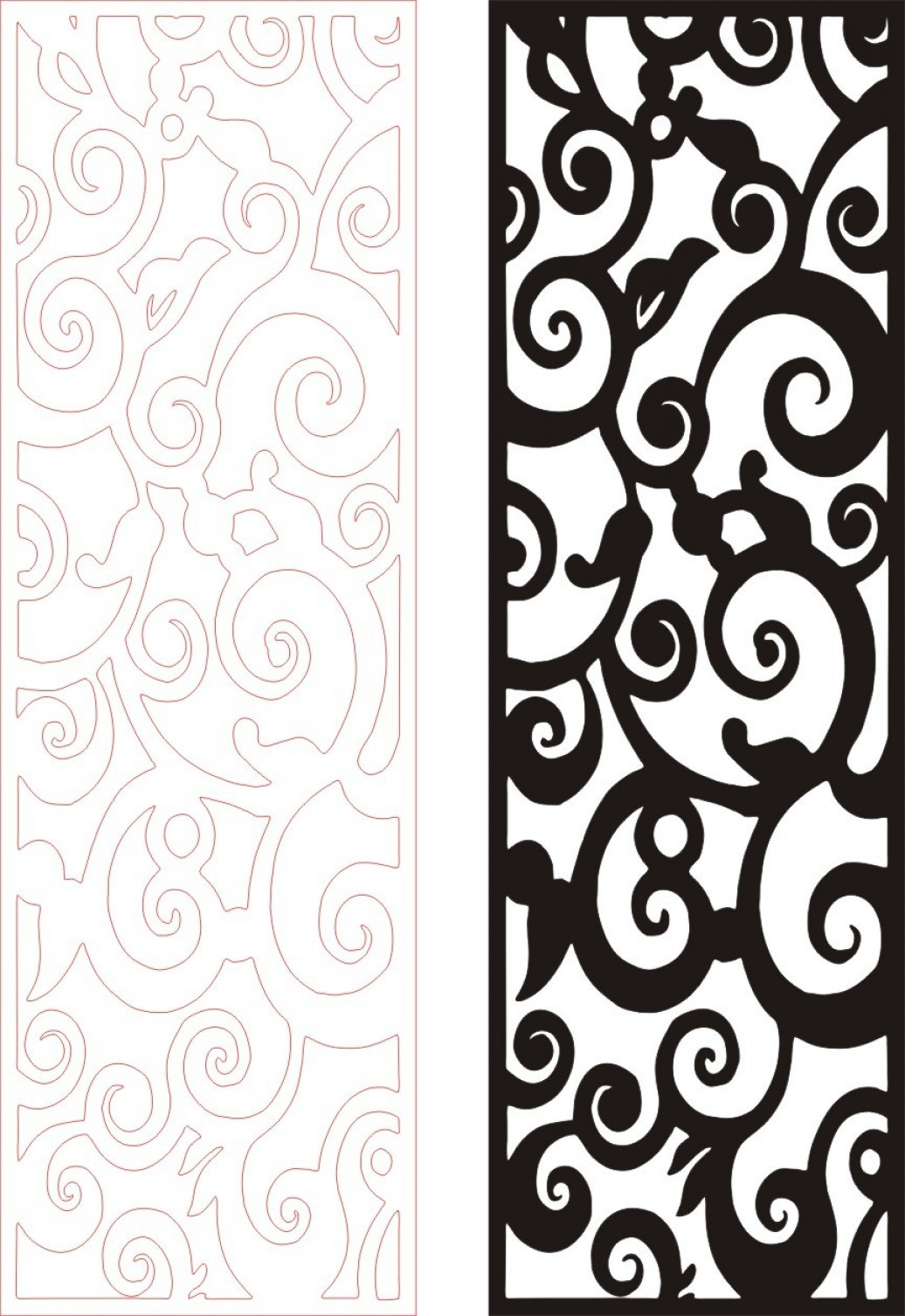 Wrought Iron Vector For CNC: Eps Cnc File Free Vector Eu A