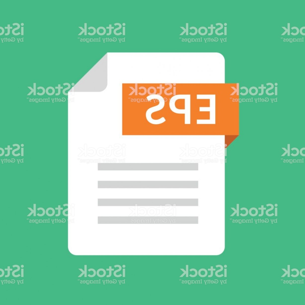 File Extension Vector Art: Eps File Icon Encapsulated Postscript Document Type File Extension Flat Design Gm