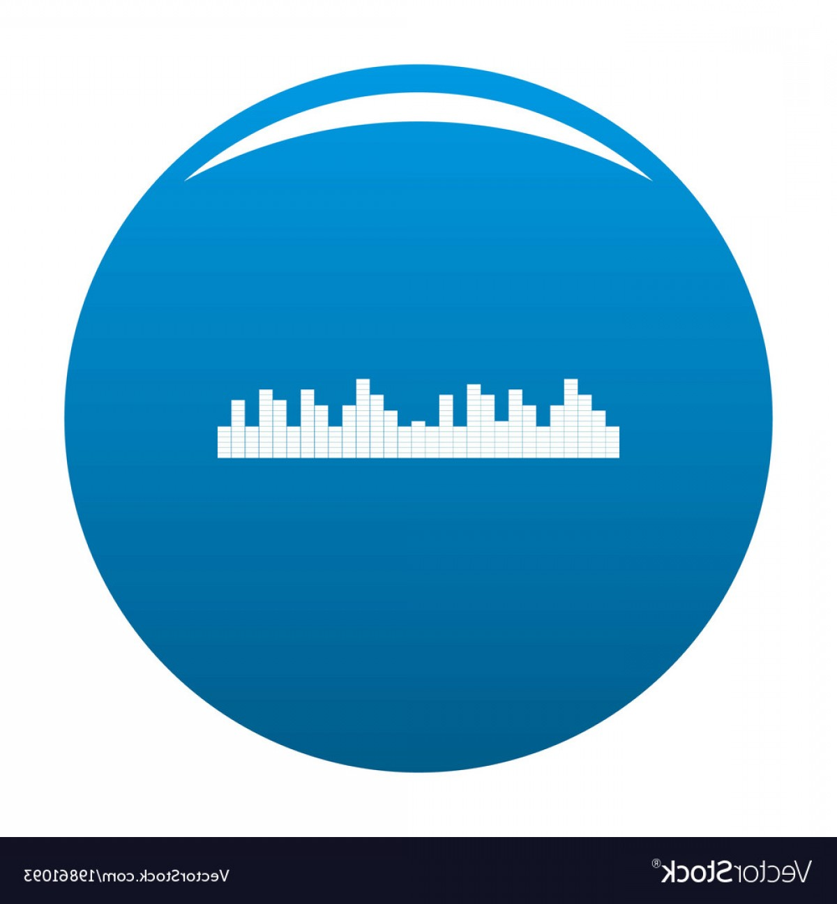 Frequency Icon Vector: Equalizer Frequency Icon Blue Vector
