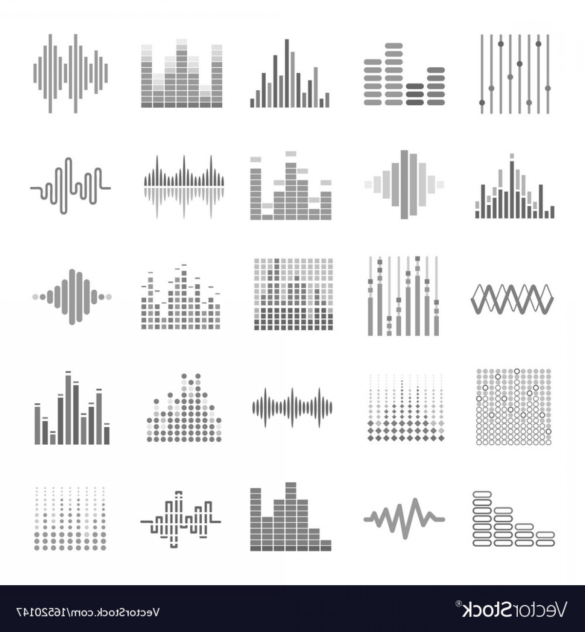 Rock Band Equalizer Vector: Equalizer Graphic Audio Wave Scales Theme Vector