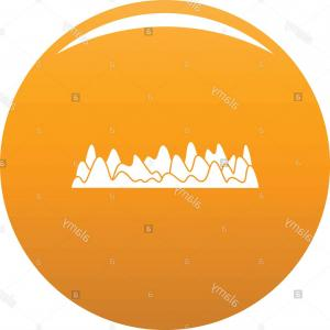 Equalizer Vector Icons: Equalizer Sound Vibration Icon Simple Illustration Of Equalizer Sound Vibration Vector Icon For Any Design Orange Image