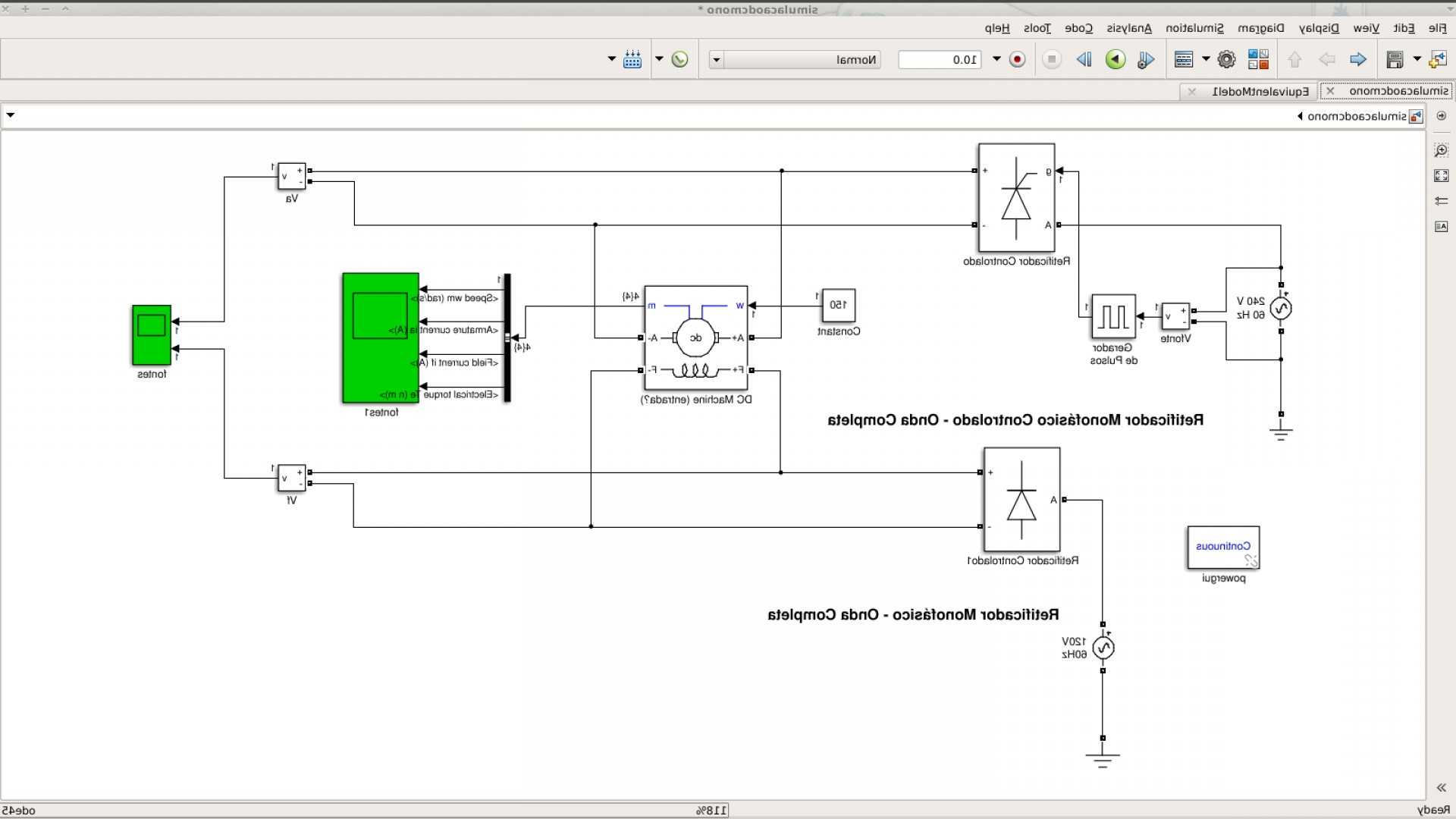 Simulink Vector: Error In Powergui Block In Simulink Involving Vector Dimensions