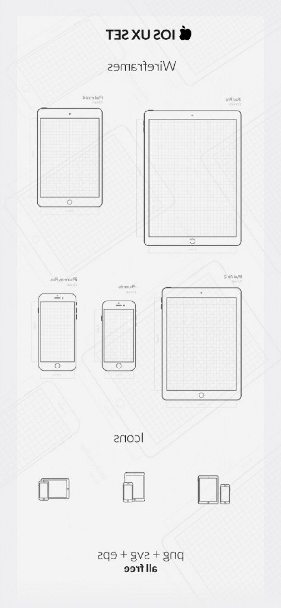 White IPhone Vector Png: Essential Apple Device Ui And Ux Vector Icon Sets