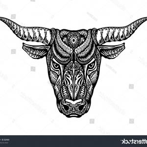 Taurus Vector: The Decorative Icon For The Zodiac Sign Taurus Gm