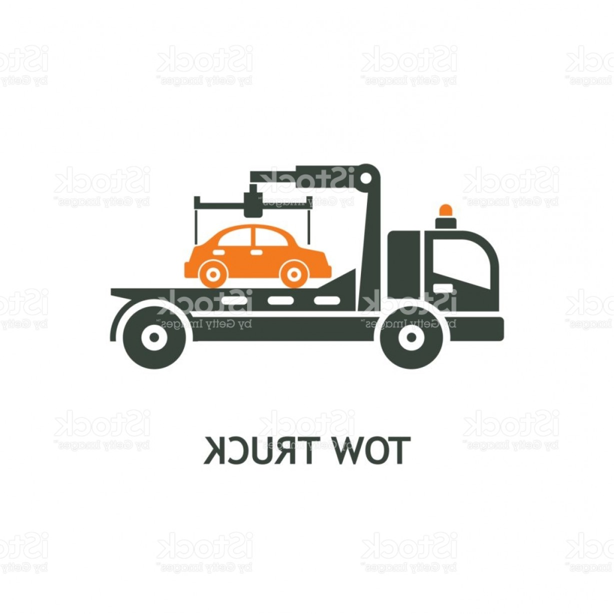 Towing Vector Clip Art: Evacuation Vehicles Tow Truck For Transportation Faulty Cars Vector Pictogram Icon Gm