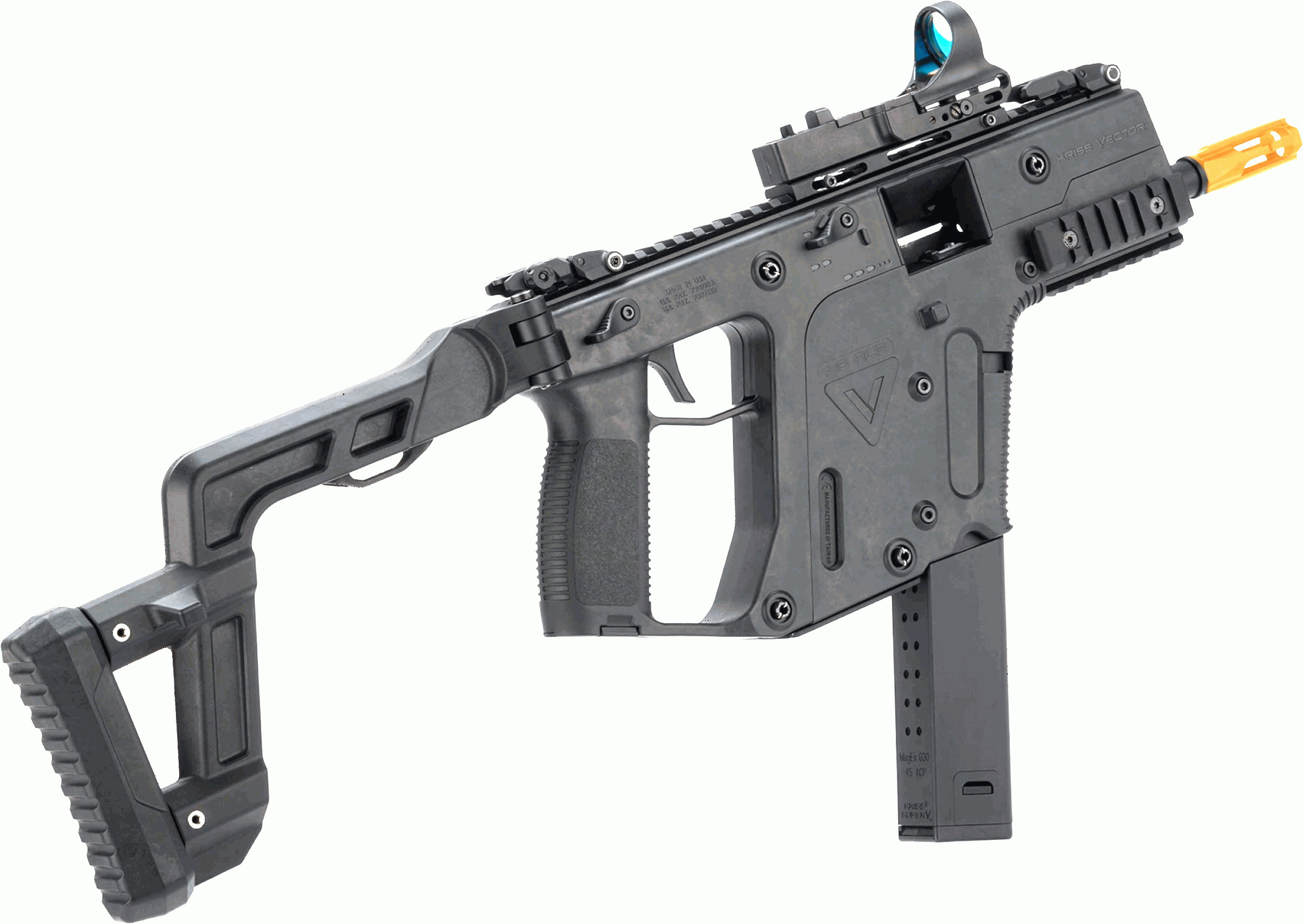 Kriss Vector Gen 1 Rail: Evike Usa Licensed Krytac Kriss Vector Airsoft Aeg Smg Rifle