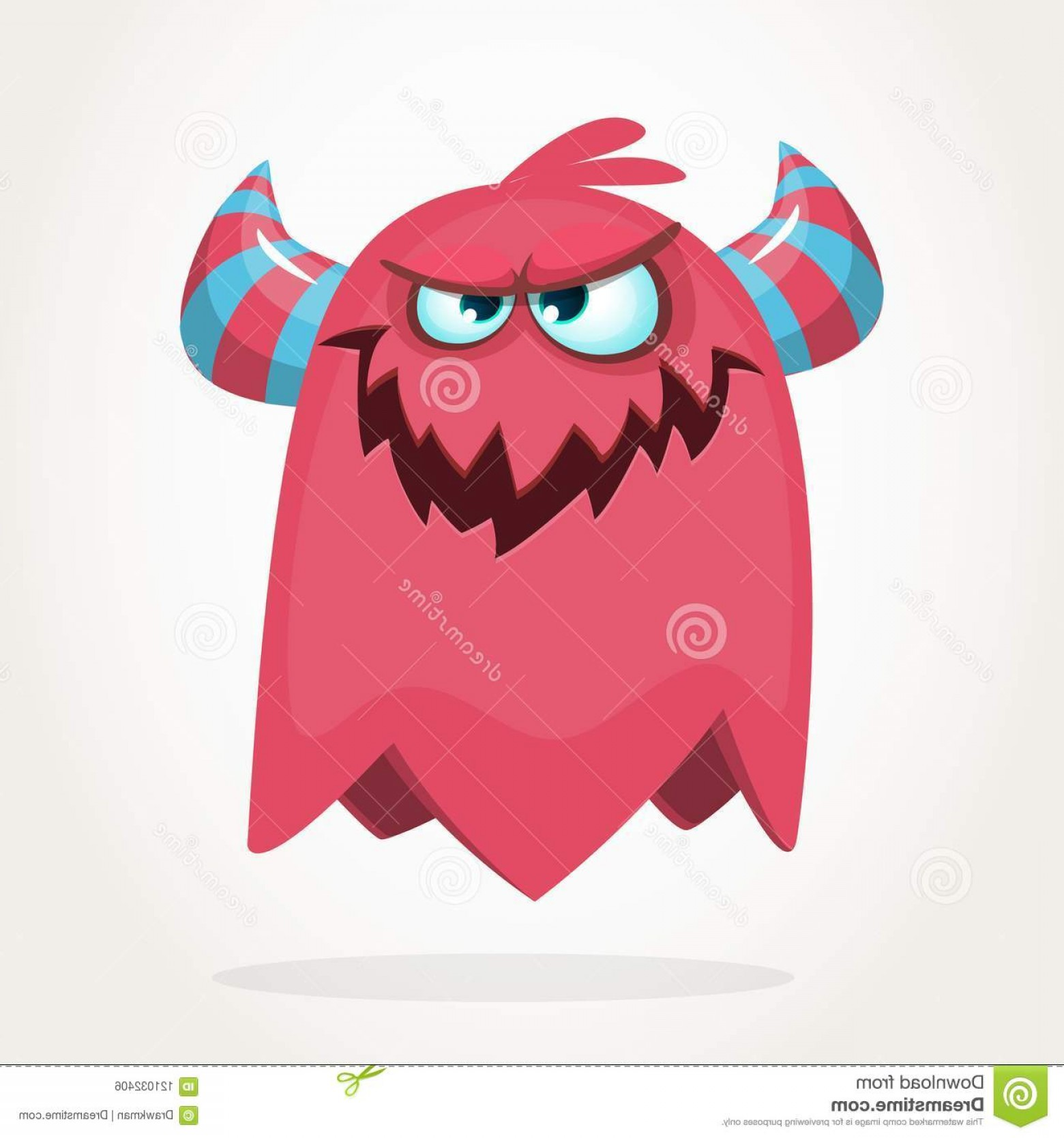 Cool Evil Vectors: Evil Cool Cartoon Fat Flying Monster Purple Horned Vector Monster Character Evil Cool Cartoon Fat Flying Monster Purple Image