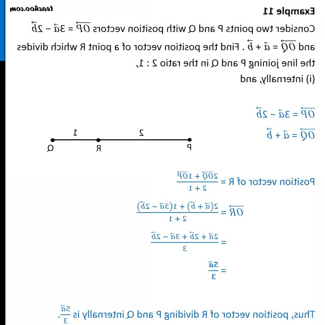 Find Vectors: Example Op A B Oq A B