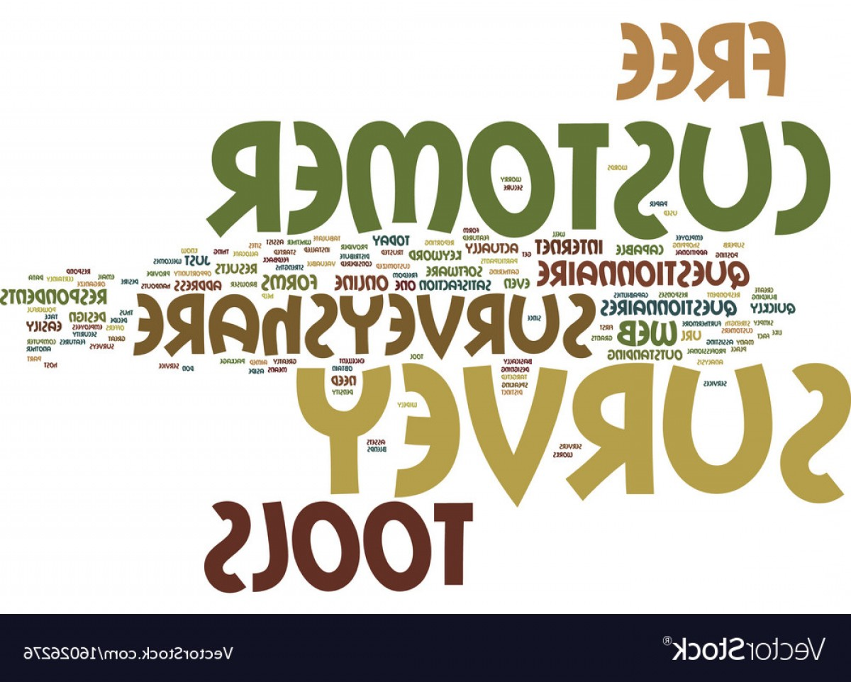 Tools For Text Vector: Exclusive Free Customer Survey Tools Text Background Word Vector