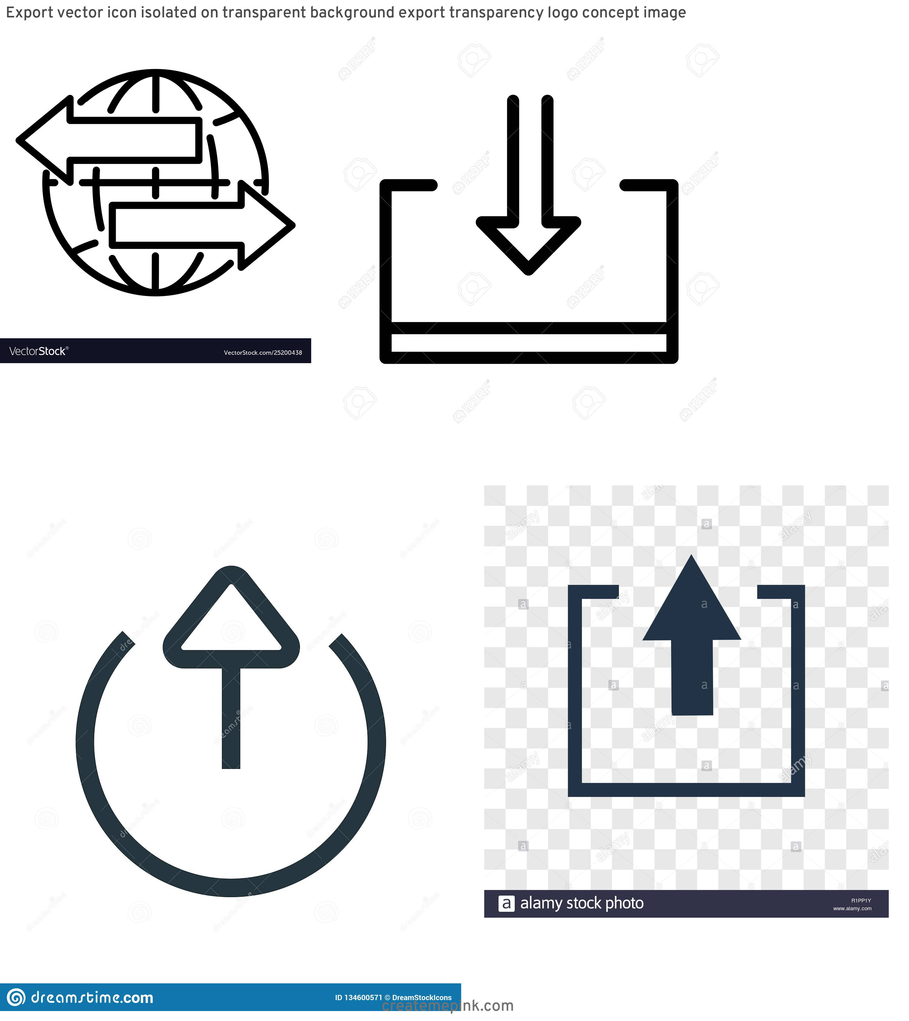 Export Icon Vector: Export Vector Icon Isolated On Transparent Background Export Transparency Logo Concept Image