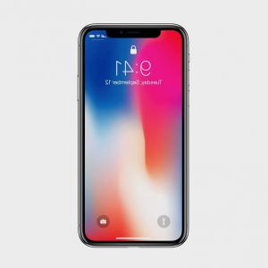 IPhone 8 Vector Front Back: Elegant Three Frameless Futuristic Smartphone Glossy Screen
