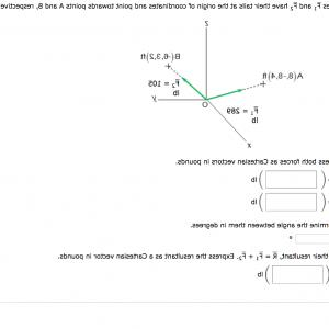 2.Solve Resultant Vectors: Express Forces Cartesian Vectors Pounds Determine Angle Degress Find Resultant R F F Car Q
