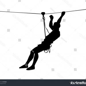 Climbing Army Vector: Extreme Sportsman Climb Without Rope Man