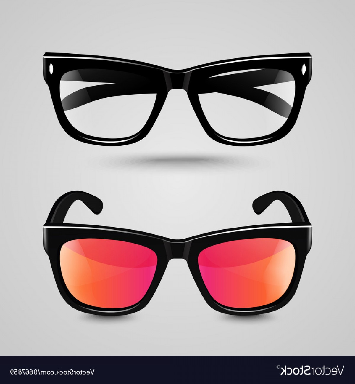 Reading Glasses For Men Vector: Eye Glasses Set Sunglasses And Reading Eyeglasses Vector