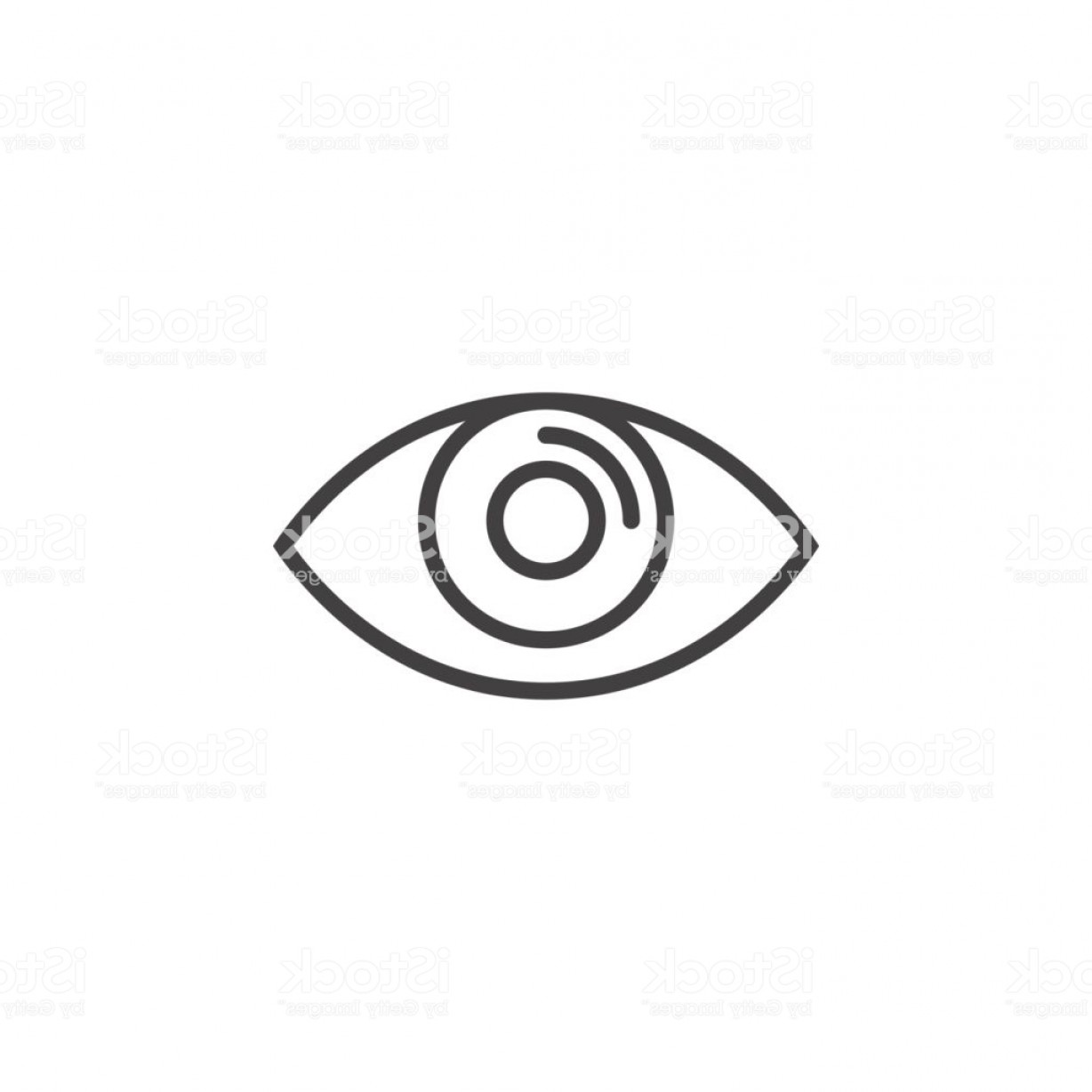 Eye Vector Logo: Eye Line Icon Vision Outline Vector Logo Illustration Linear Pictogram Isolated On Gm