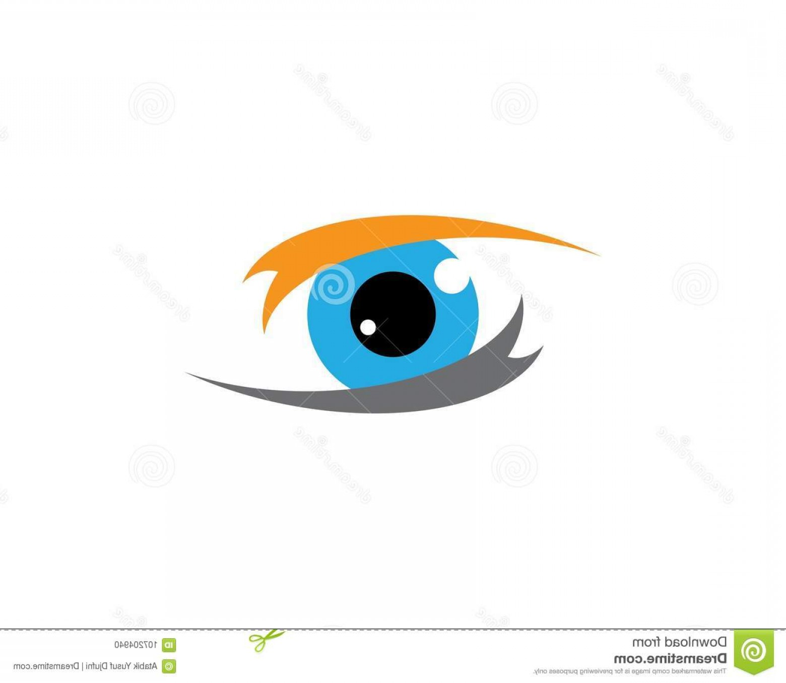 Eye Vector Logo: Eye Vector Icon Branding Identity Corporate Eye Care Vector Logo Design Image