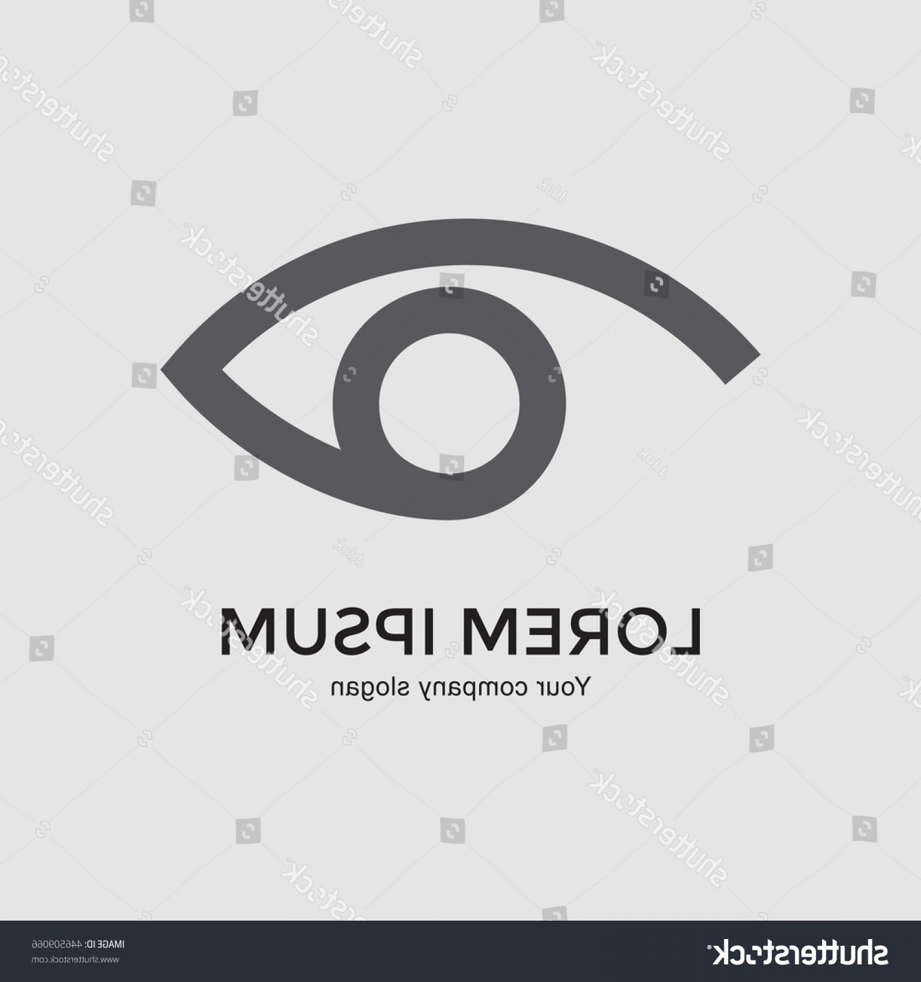Eye Vector Logo: Eye Vector Logo Design Template Modern