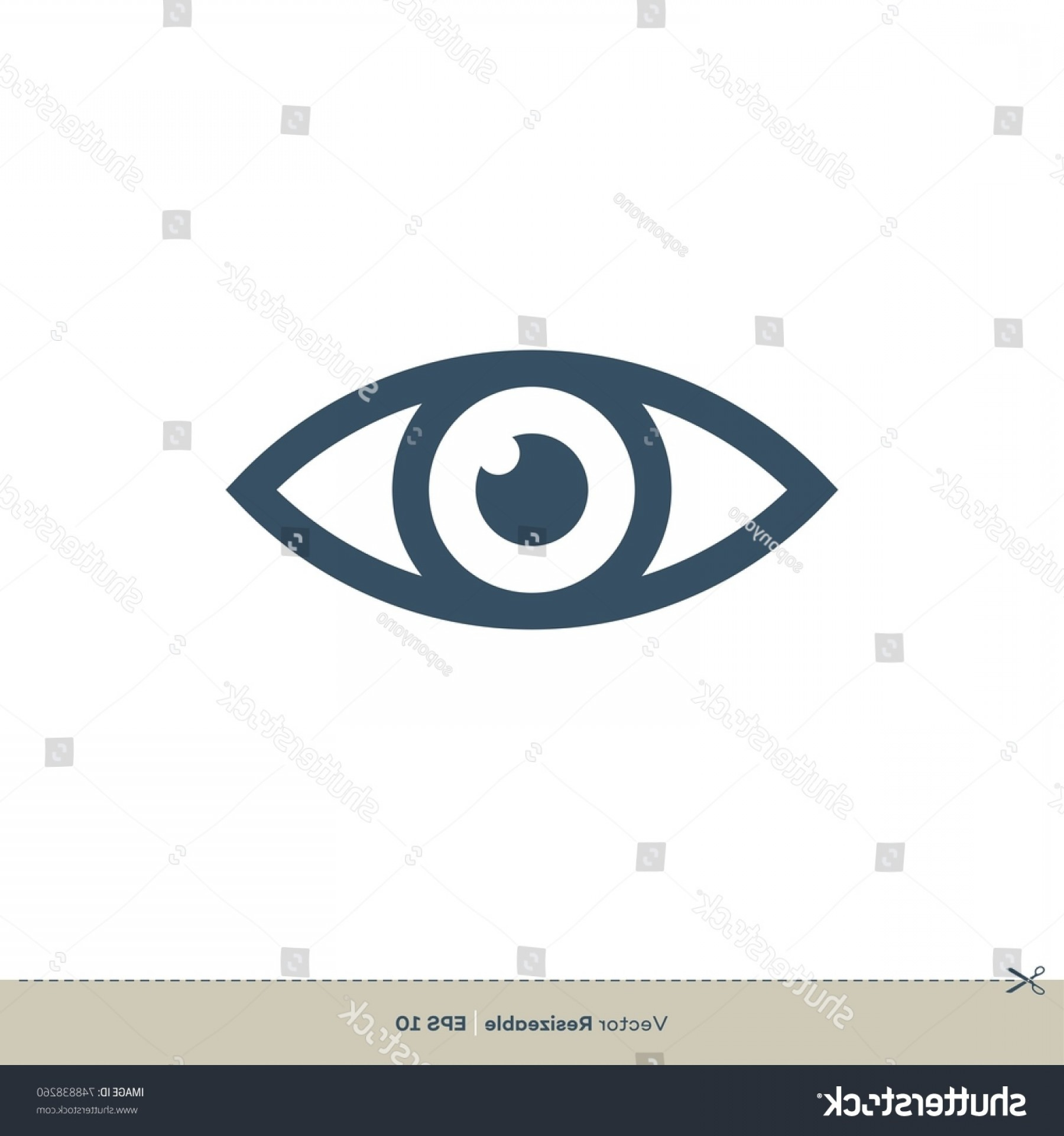 Eye Vector Logo: Eye Vector Logo Vision Icon Template