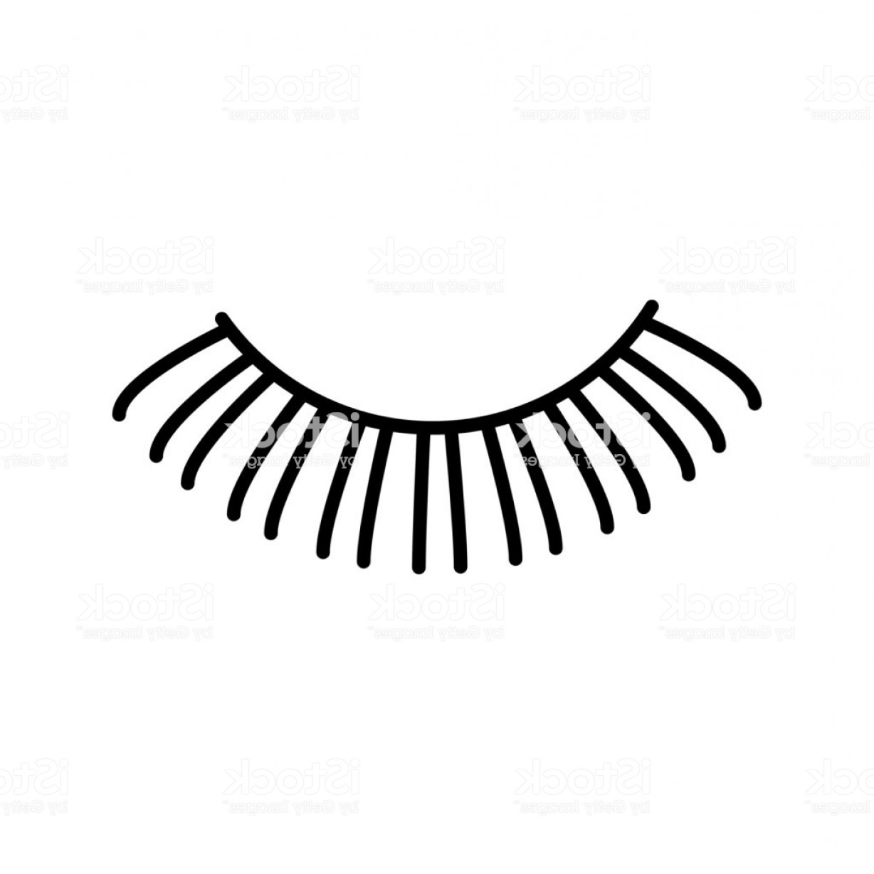 Top Eye Lashes Vector: Eyelashes Vector Line Icon Sign Illustration On Background Editable Strokes Gm