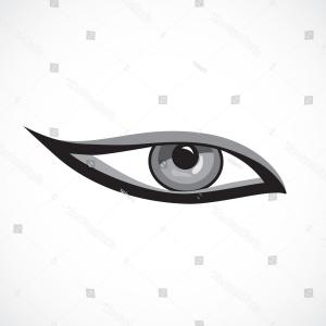 Woman Eye Vector Graphics: Eye Icon Cat Makeup On White