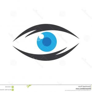 Eye Vector Template: Abstract Color Vision Eye Vector Logo Template