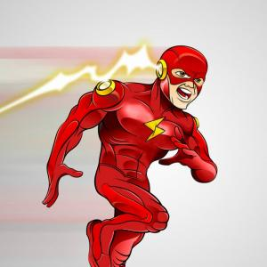 Flash Superhero Logo Vector: Ezra Miller Is The Flash Concept Art