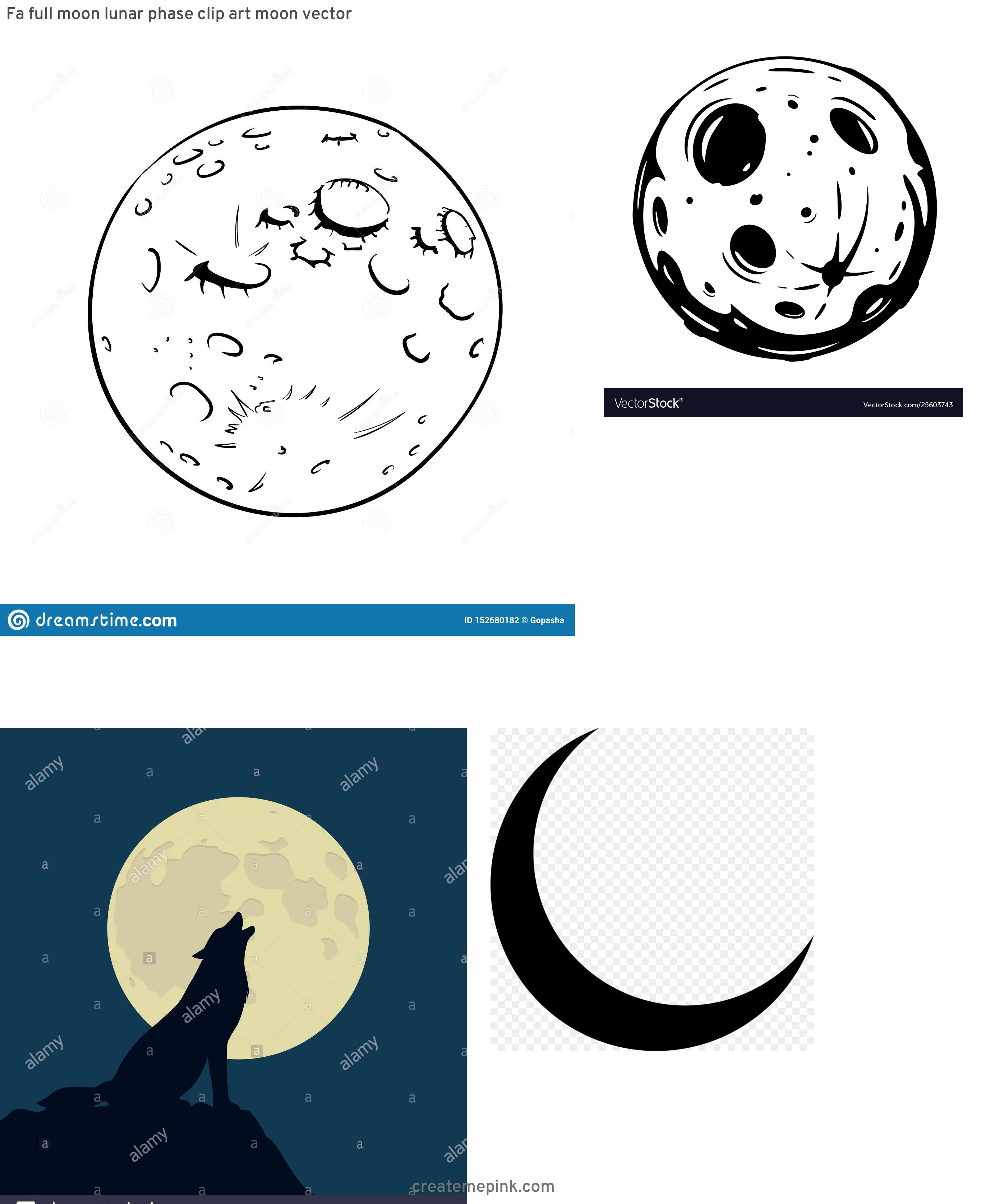 Full Moon Vector Art: Fa Full Moon Lunar Phase Clip Art Moon Vector
