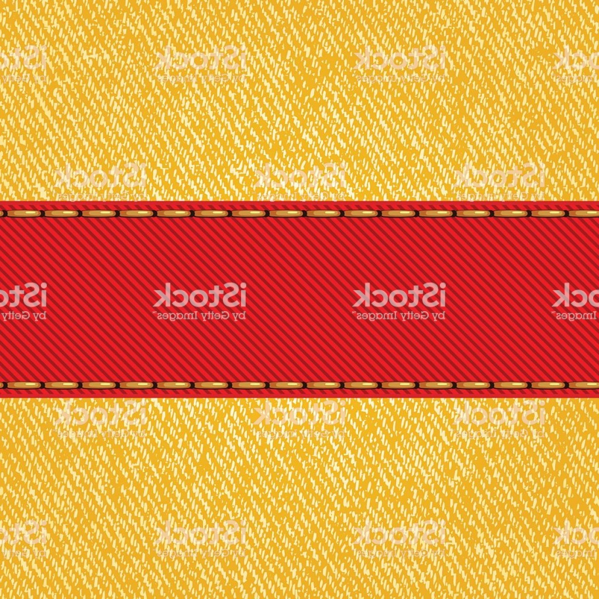 Fabric Orange Ribbon Vector: Fabric Texture With Label Ribbon Vector Gm