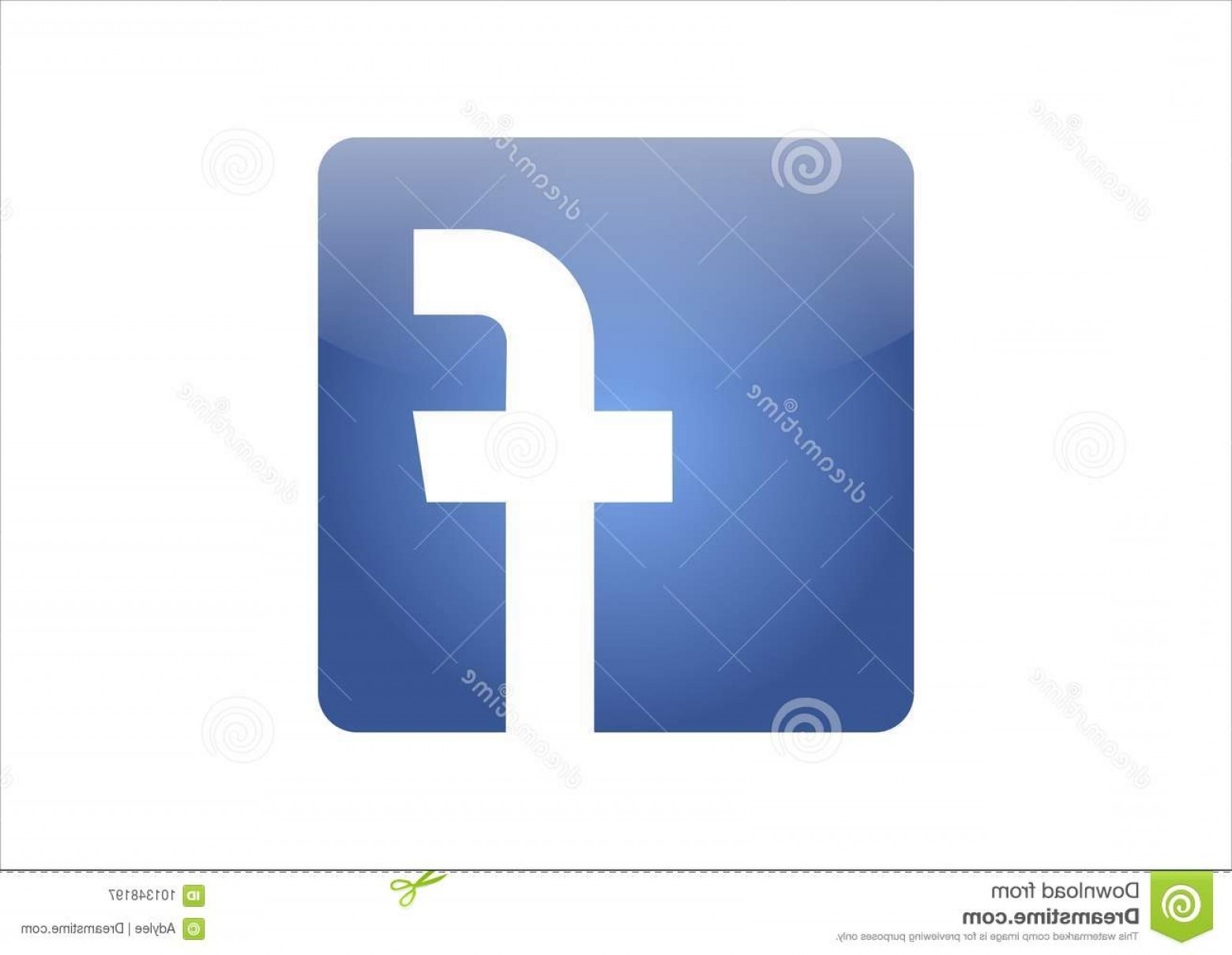 Finger Facebook Vector: Facebook Icon Vector Blue White Background Image