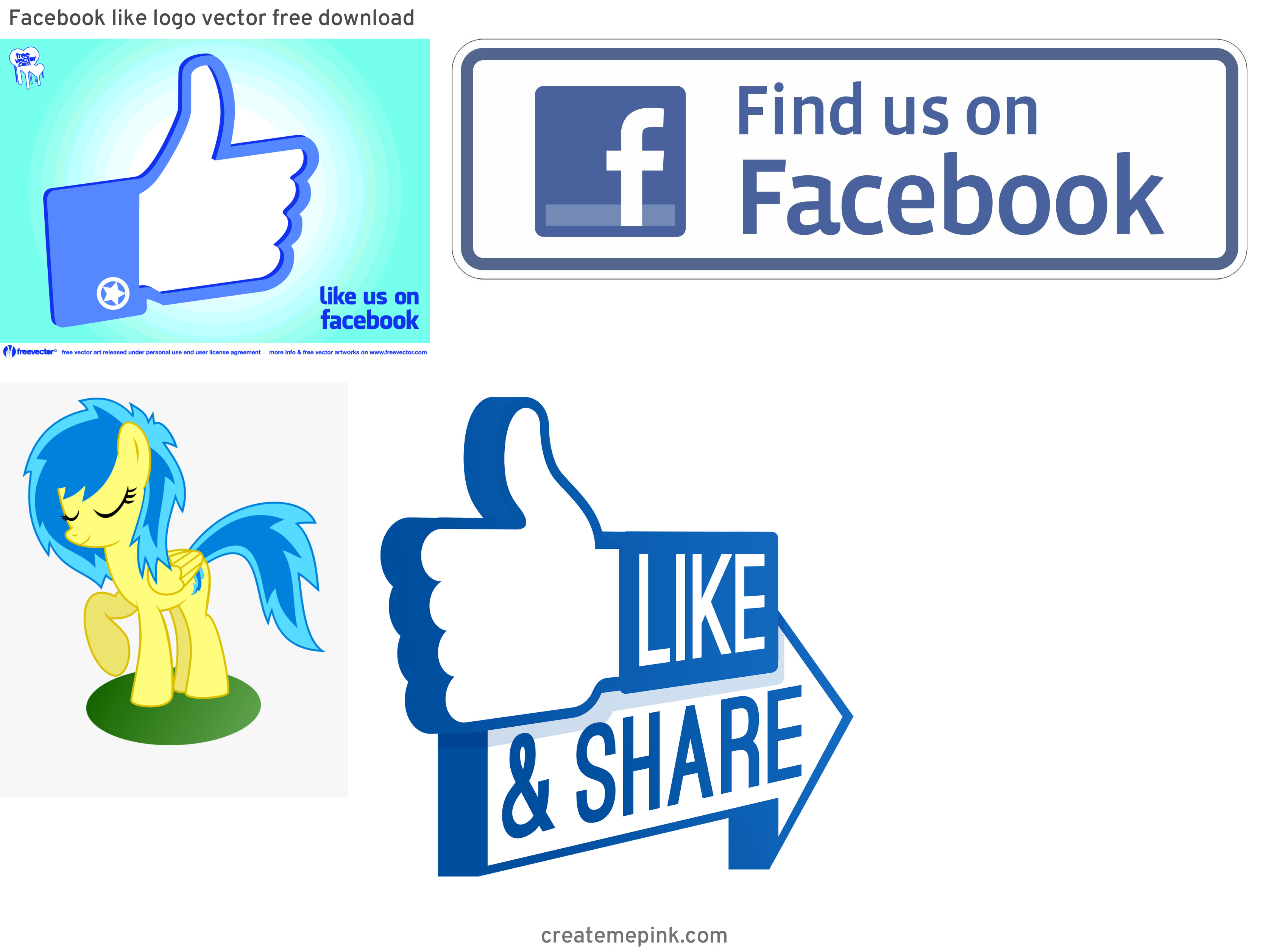 Official Like Us On Facebook Logo Vector: Facebook Like Logo Vector Free Download