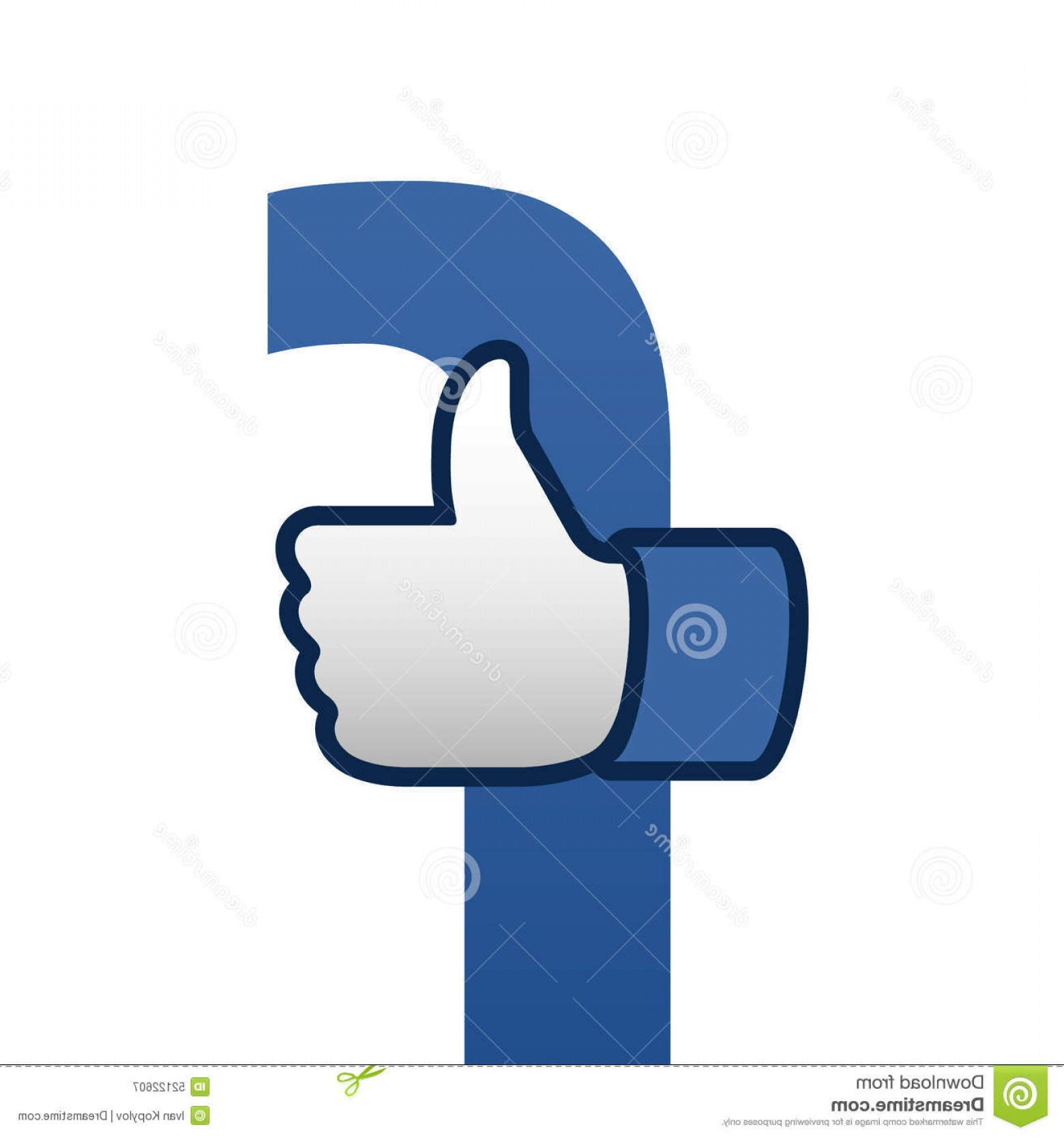 Finger Facebook Vector: Facebook Like Thumbs Up Symbol Icon Illustration