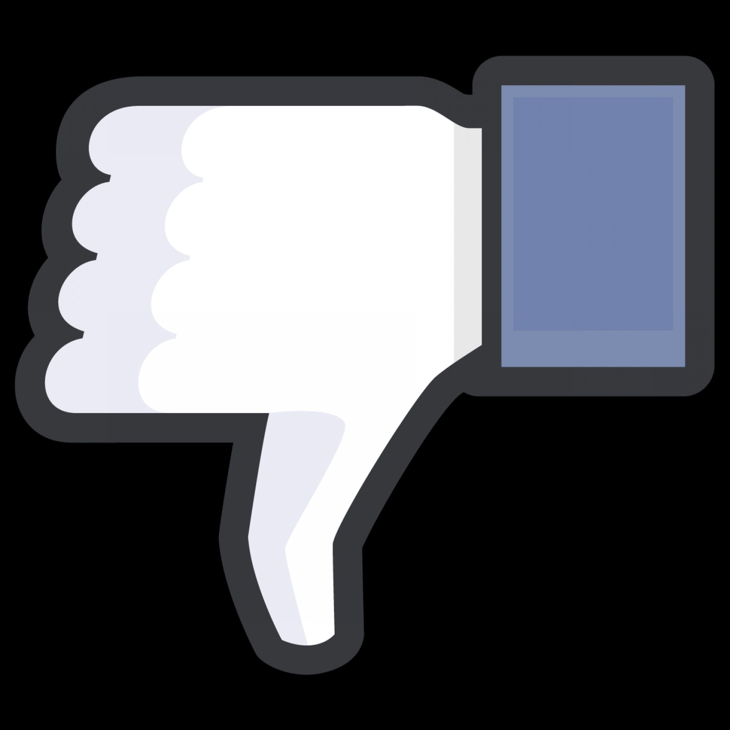 Black Facebook Logo Vector: Facebook Thumbs Down Icon Black Outline