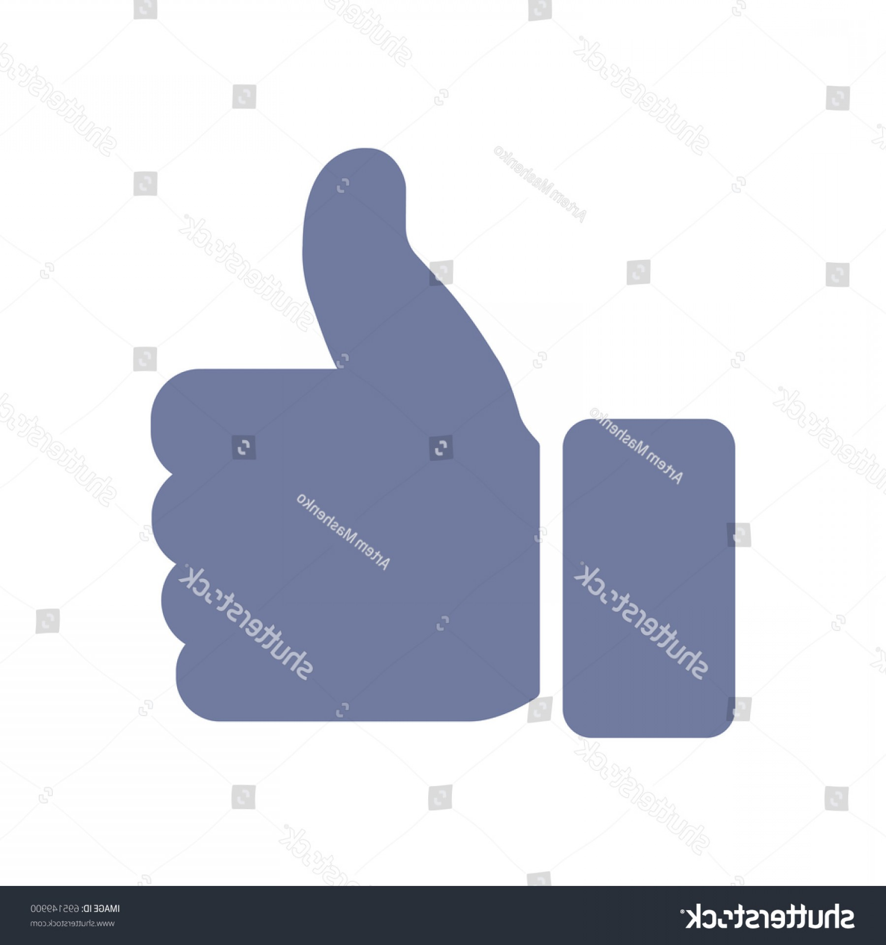Finger Facebook Vector: Facebook Thumbs Icon Modern Design Vector