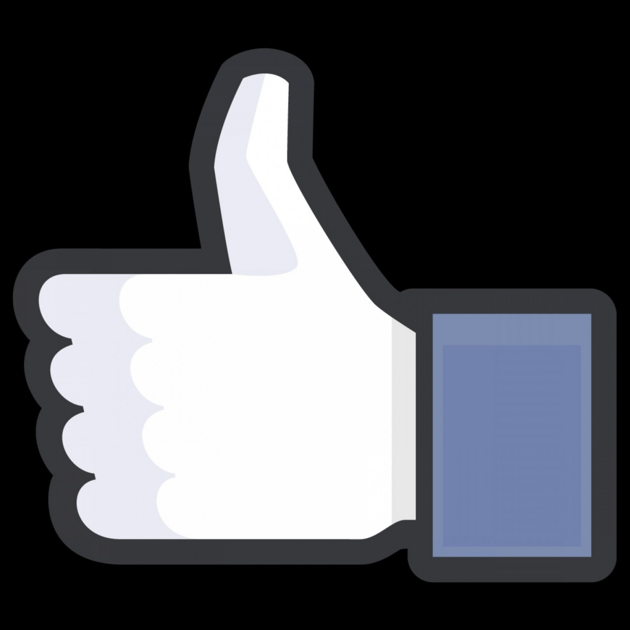 Finger Facebook Vector: Facebook Thumbs Up Icon Black Outline