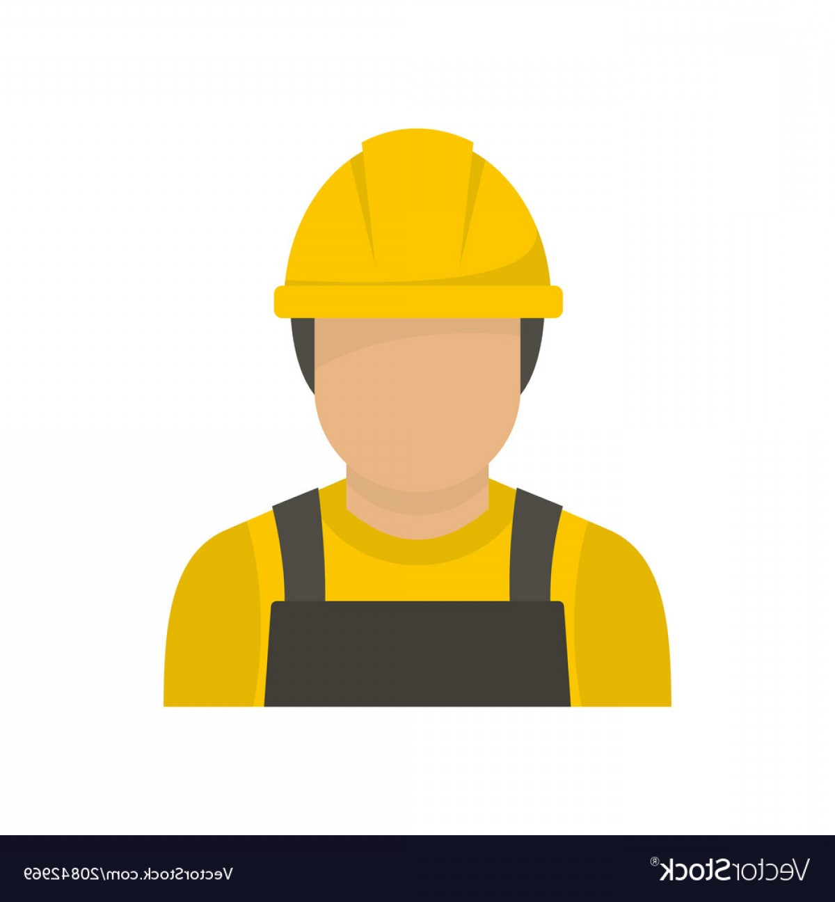 Worker Vector: Factory Worker Icon Flat Style Vector