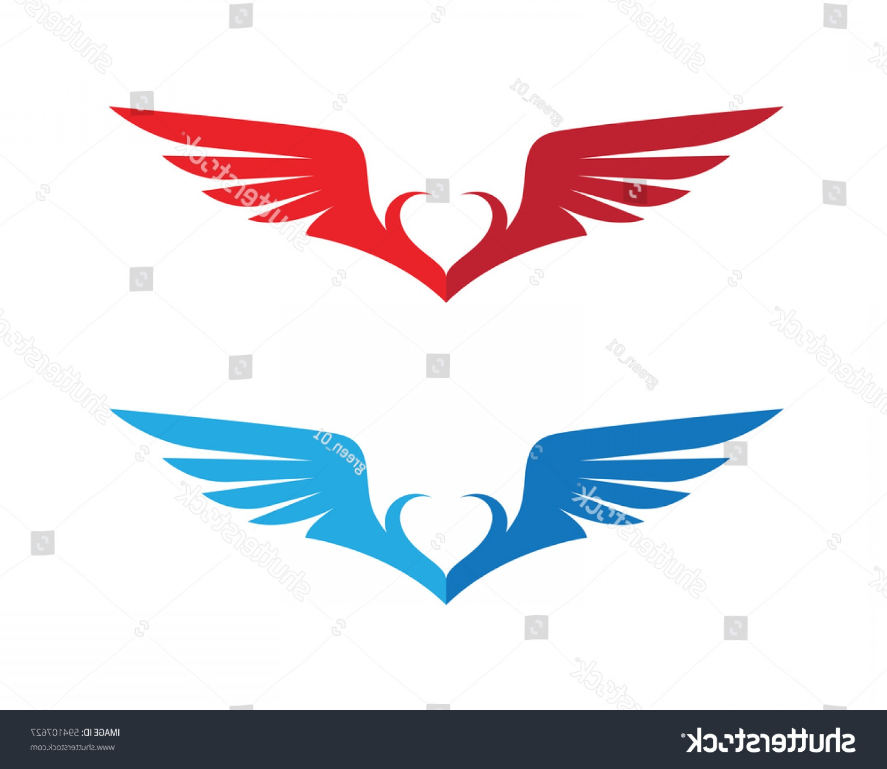 Falcon Wing Vector Art: Falcon Wing Logo Template Vector Icon