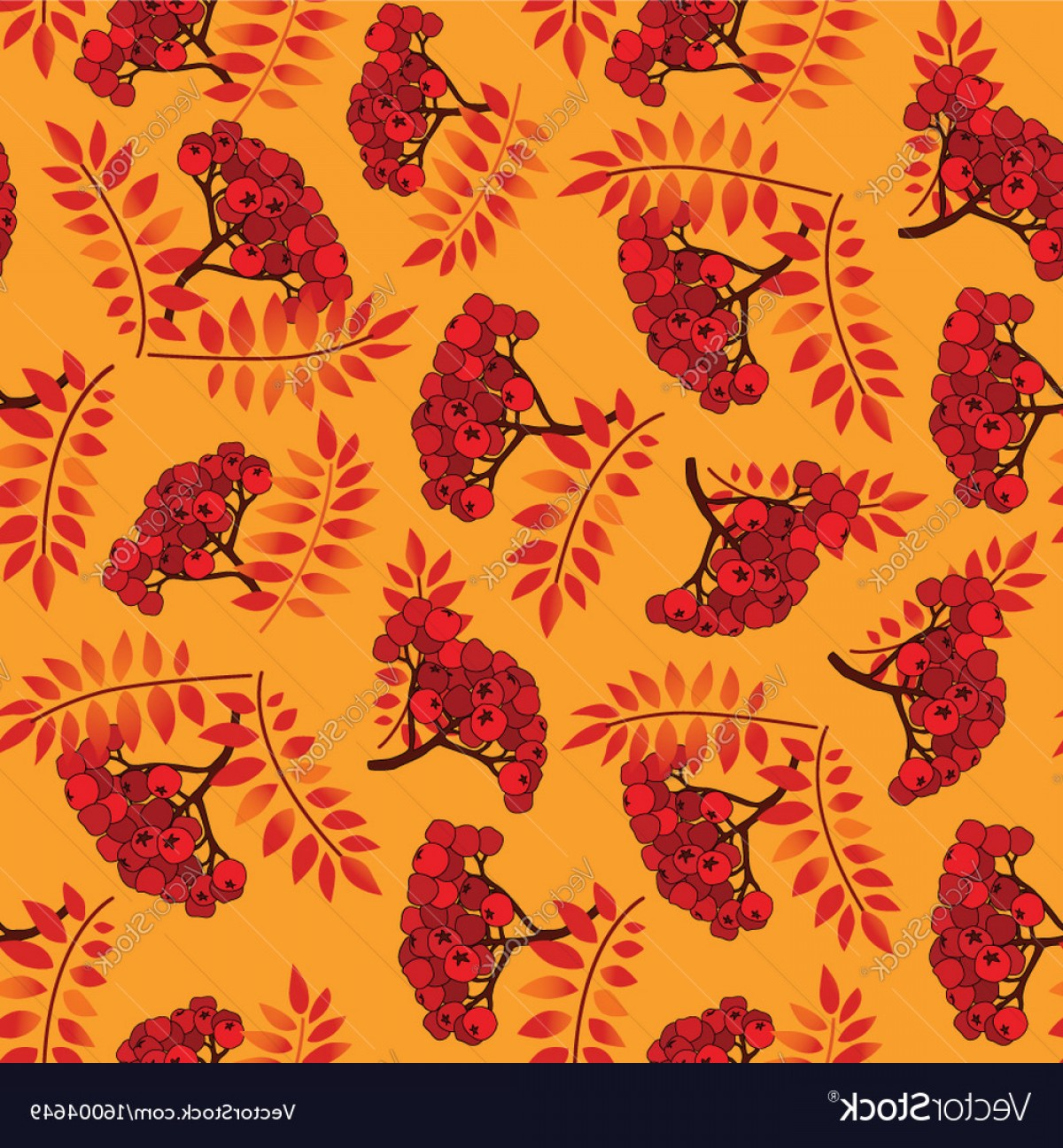 Autumn Seamless Vector: Fall Seamless Pattern Autumn Leaves Background Vector