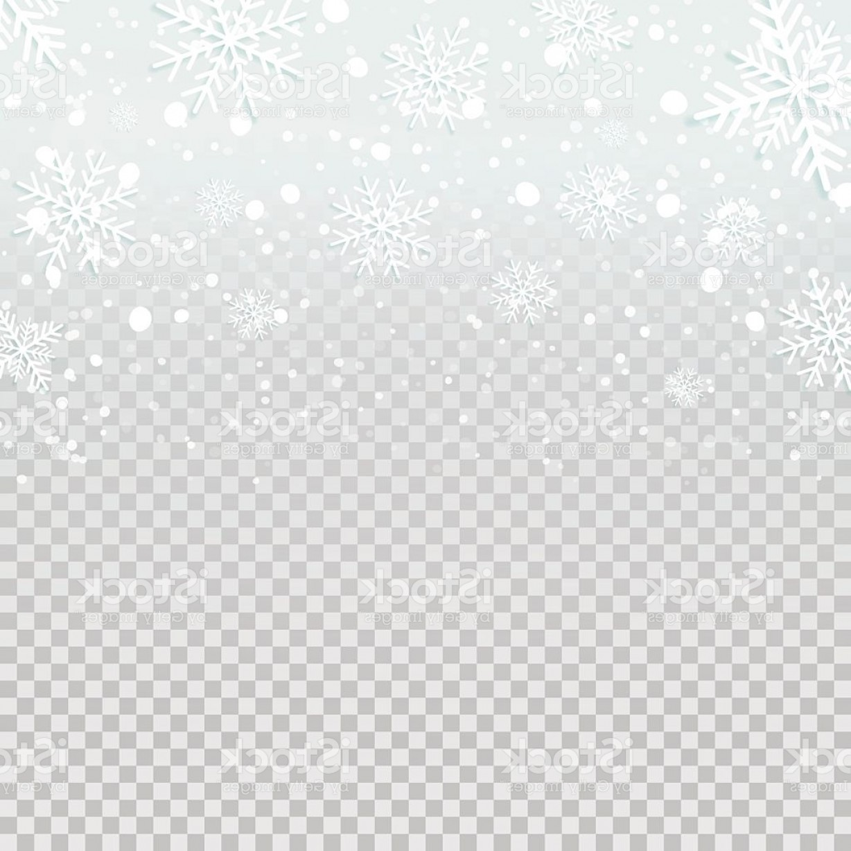 Snow Falling Vector Free: Falling Snow Backdrop On Transparent Background Gm
