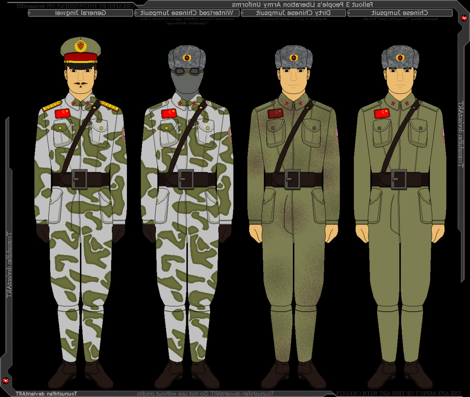 Fallout 3 Pictures Of Vector Sigma: Fallout Chinese Army Jumpsuit Uniforms