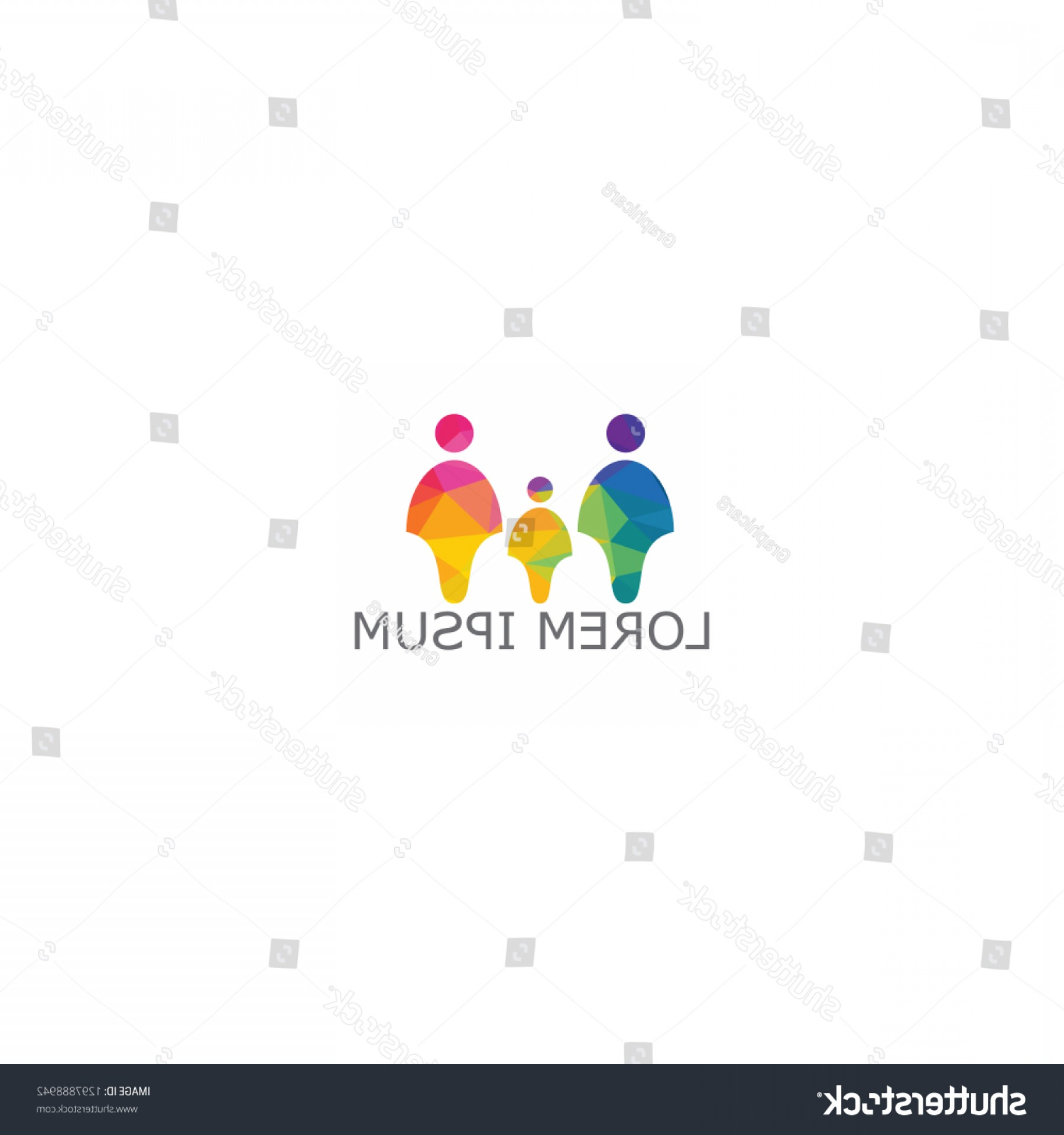Vector Swoosh Simple Two Line: Family Care Logo Swoosh Vector Image
