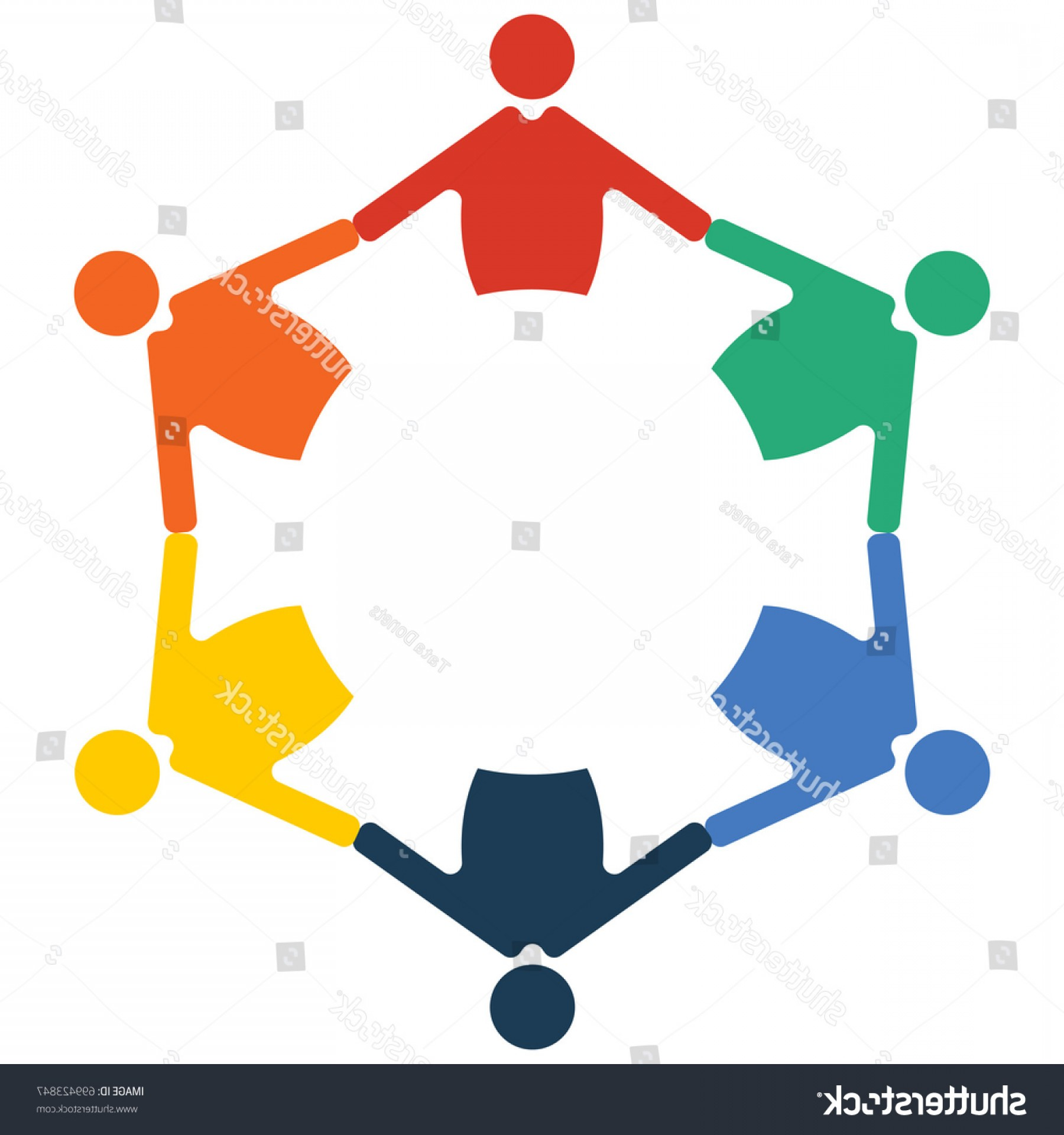 Family Reunion Vector Symbol: Family Reunion Diversity Group Community Round