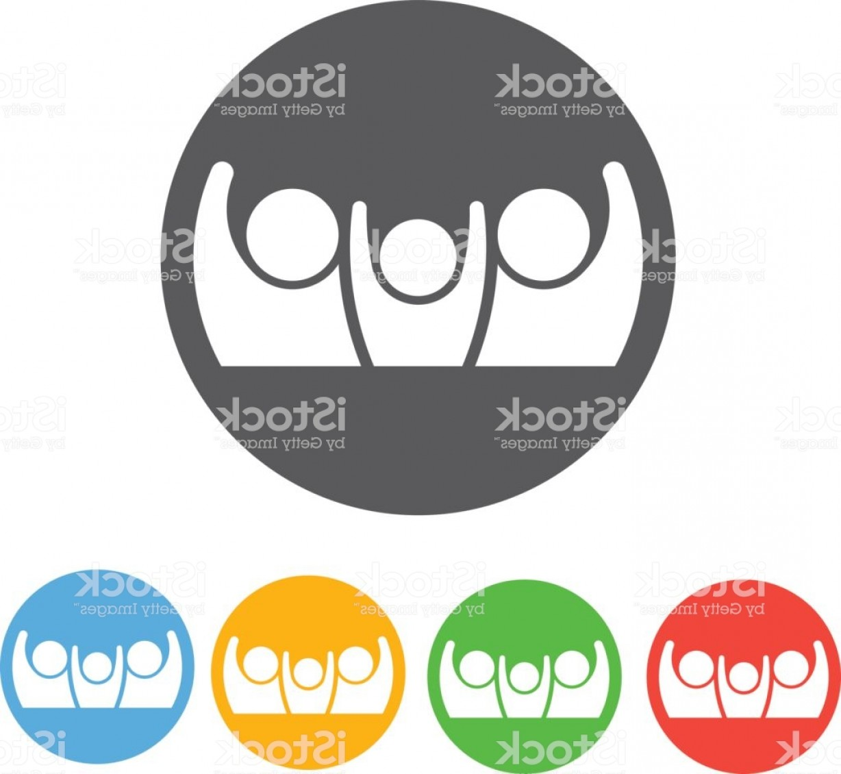 Family Reunion Vector Symbol: Family Reunion Icon Illustration Gm