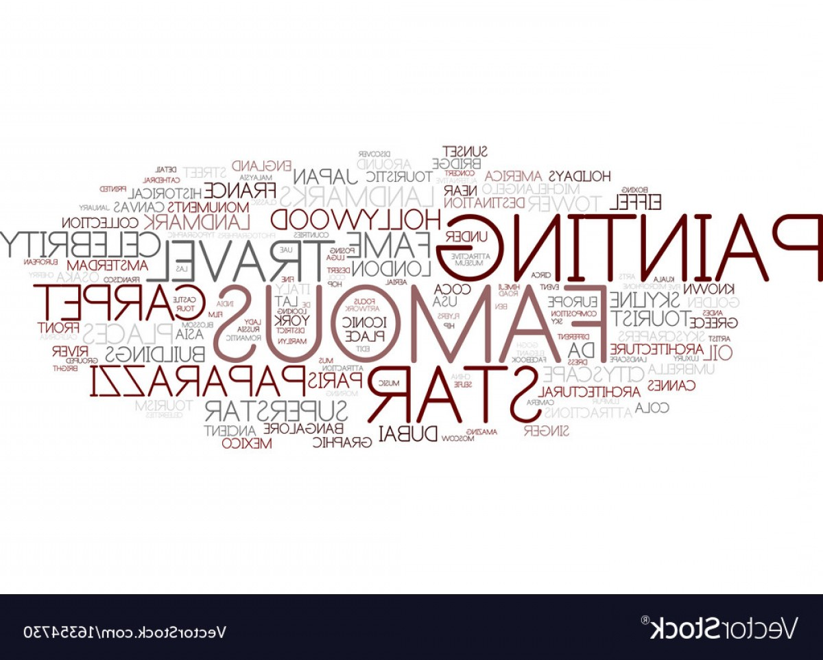 Vector Word Famous: Famous Word Cloud Concept Vector