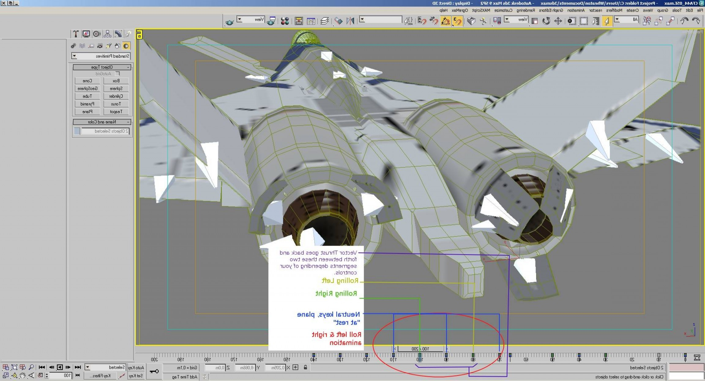 Thrust Vectoring Explain: Fan Tutorial Animations And Exporting
